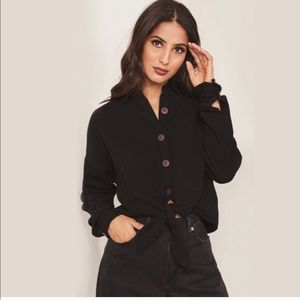 Free people sun streaks button and tie long sleeve